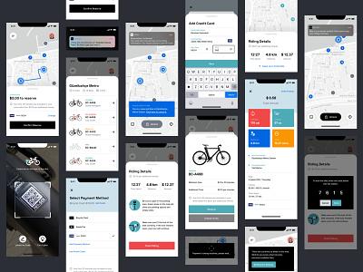 Bicycle - Bike Rental App ux screen application ui product interface design bike ride mobile app rental rent bicycle bike