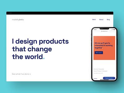 MadebyBatu ━Product Designer Portfolio Website ui interface product designer website batuhankrskl madebybatu portfolio