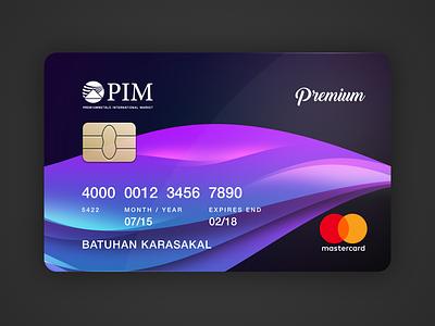 PIM Gold - Credit Card Redesign creditcard carddesign gold pim redesign card credit