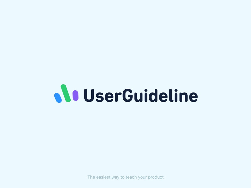 UserGuideline | The easiest way to teach your product! icon purple green blue color typography branding logo product design