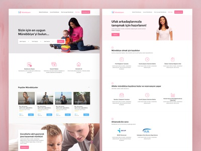 Babysitter Marketplace Landing Pages