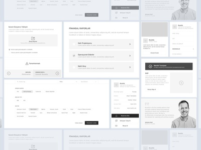 StartupMarket |Components Designed on Wireframe Stage