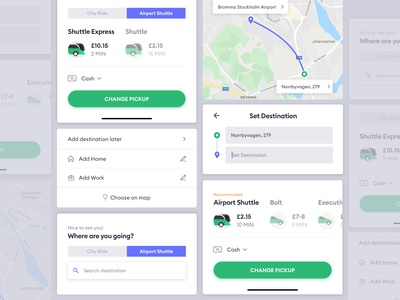 BOLT App Airport Shuttle Feature - UI Component Guideline