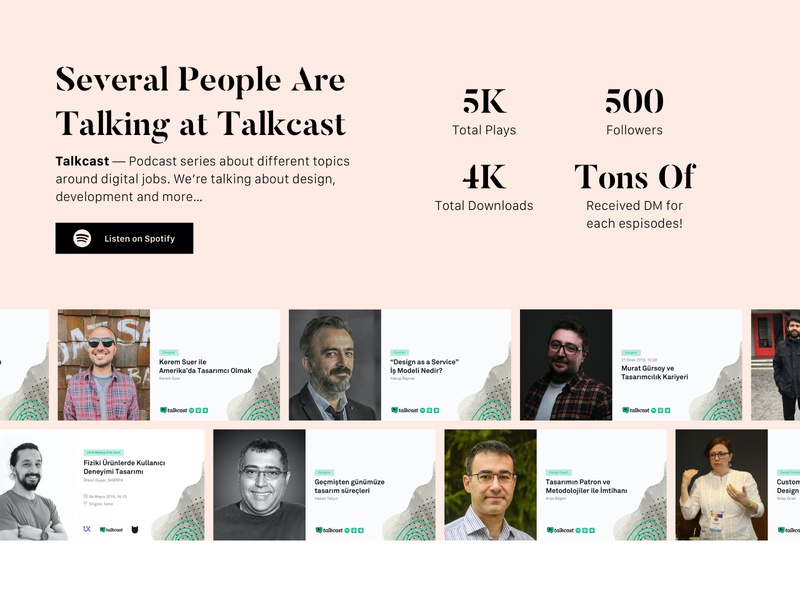 Several People Are Talking at Talkcast ui interface design podcast talkcast
