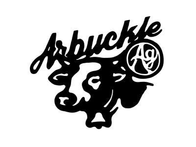 Cow Logo hand drawn bell cattle identity lettering animal farm agriculture cow