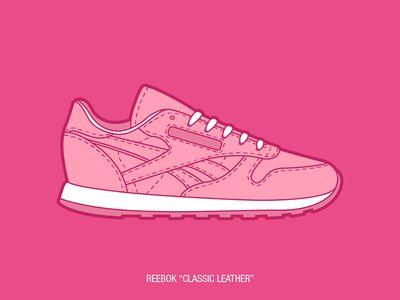Sneakers illustration collection #1 reebok first shot pink sneakers illustration debut