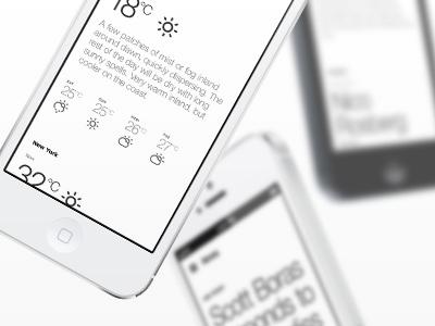 News.Sport.Weather. Parallax ui app ux ios ios7 flat website landing page parallax