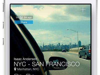 A quick portfolio update portfolio ui ux app ios iphone photo photo sharing typography menu text nyc