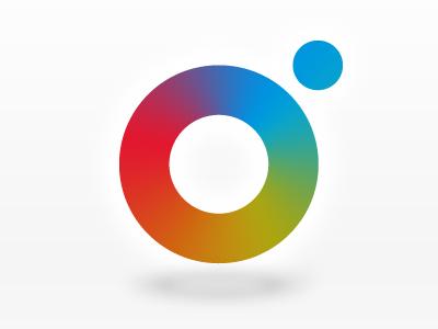 Lenshare Logo mark color camera logo branding app icon ios application badge
