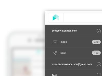 New project, branding, UI / UX email nav green grey ux ui logo badge branding