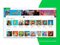 Google Play Store | Games Simple Concept