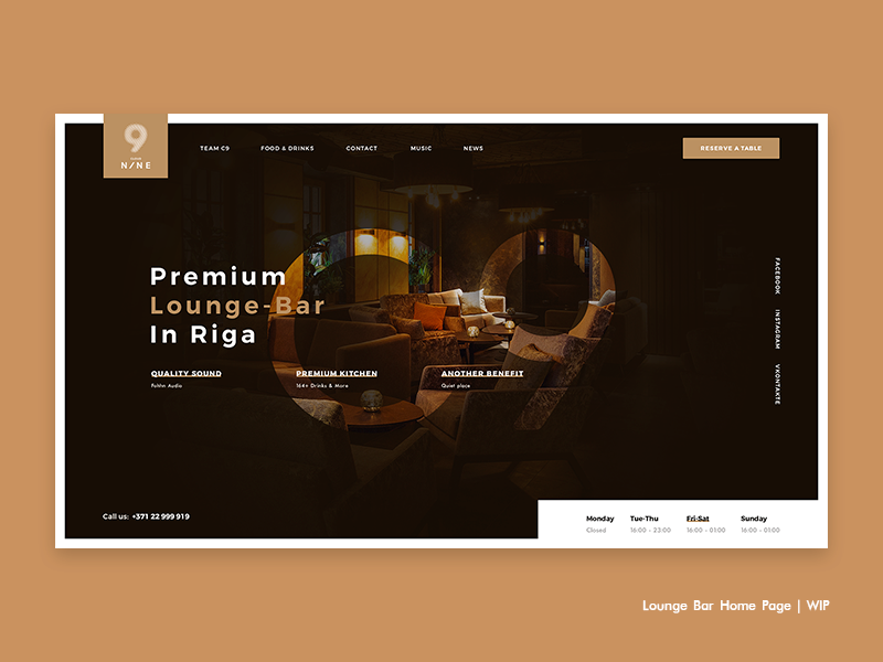 Lounge Bar Home Page | WIP vodka coctail nine cloud c9 latvia riga restaurant food drinks bar lounge
