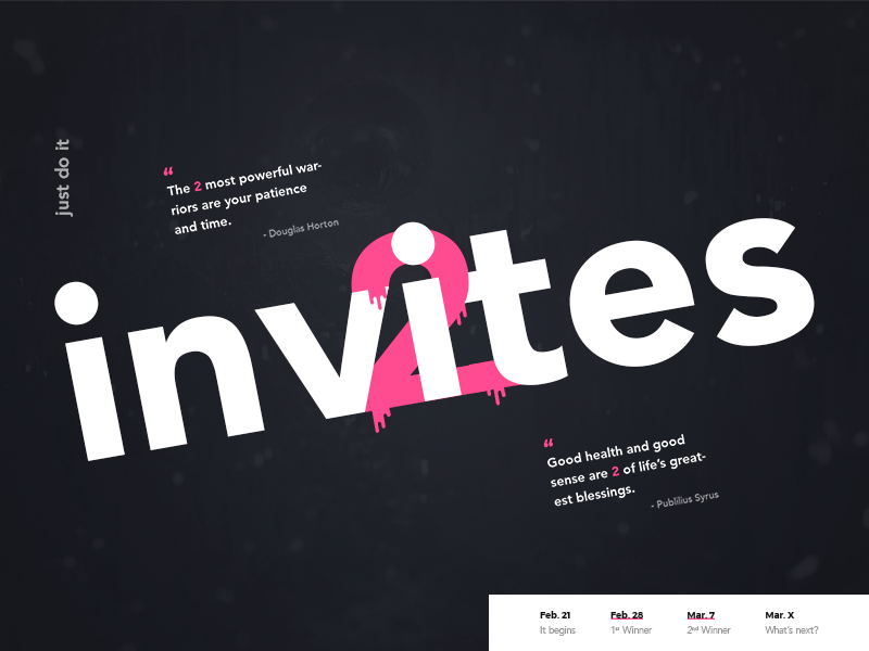2 Dribbble Invites Giveaway welcome debut join draft invitation invites giveaway invite dribbble