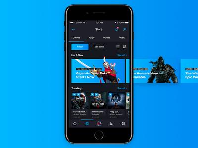 Steam App Redesign [Mobile]