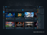 eSports Web Interface v2