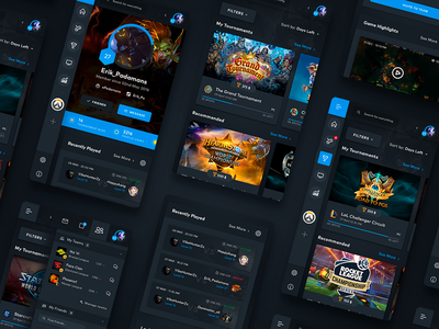 eSports Mobile Web Screens