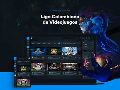 LCV: E-Sports Web Platform Design dark dashboard ux ui faceit steam counter-strike dota ladder gaming games esports