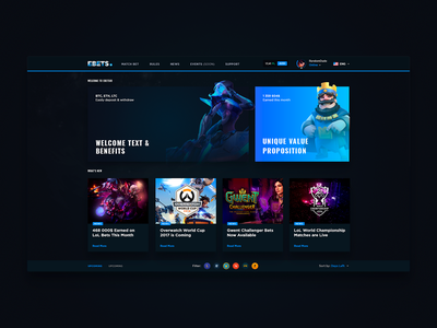 Old Gaming-Related Project ui counter-strike ladder dota ux black dark esports bets games gaming