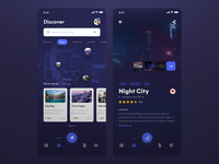 Discover Beautiful Travel Places App [Dark]