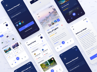 Discover & Travel UI Kit Screens