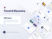 Travel & Discovery Ui Kit (Adobe XD & Photoshop)