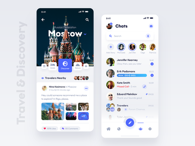 City Hub & Chats Mobile Screens messenger telegram messages chats phone ios xd travel white light android iphone mobile theme ux ui ui kit photoshop adobe adobe xd