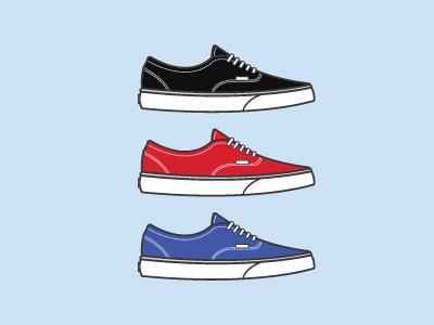 Vans Classics flat design vans shoes minimal skateboard skateboarding
