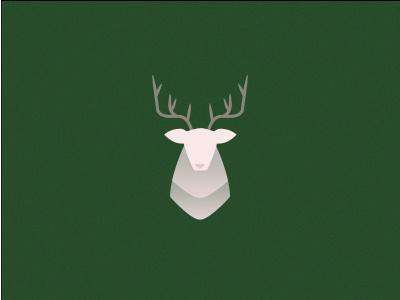 Happy Holidays grain antlers head flat minimal deer