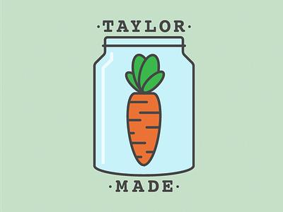 Logo for Taylor Made Prepared Meals food jar mason made taylor carrot