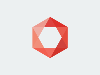 Hexcaster poly minimal logo icon hex