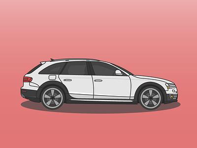 Audi Allroad luxury german illustration vehicle car cars wagon audi allroad campallroad