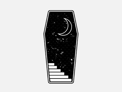 Coffin dead october goth moon stairs halloween spooky coffin