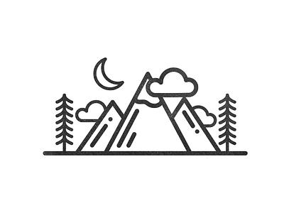 Simple optoutside procreate vectornator landscape