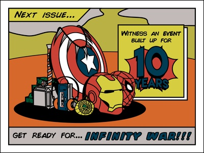 10 Years Avengers: Infinity War