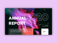 anuual report ui concept