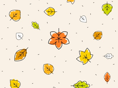 Preview of autumn pattern background theme. background pattern yellow orange green fall leaf leaves autumn leaves
