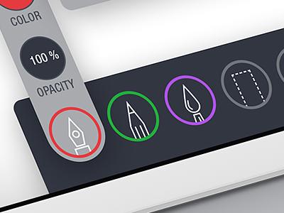 Sketching App Design sketch application ui icon design