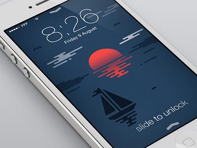 Sunset Wallpaper ipad iphone wallpaper sailboat sea sunset