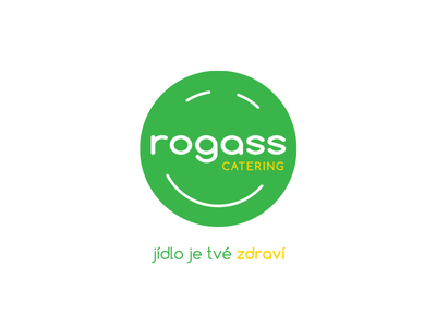 Rogas logo food health catering green logo
