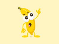 Funny banana mascot
