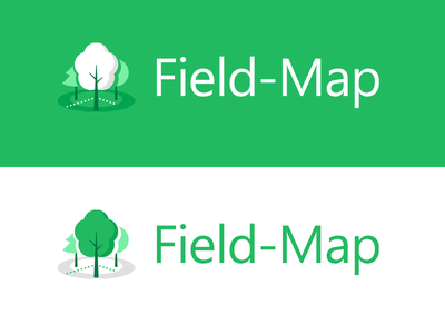 The final version of Field-Map application icon application icon application green wood tree forest
