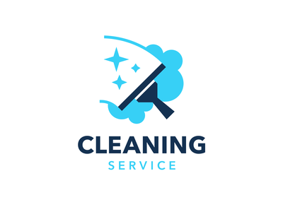 Cleaning Service - logo template cleaning service blue design illustration icon