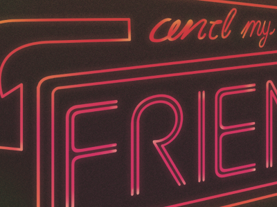 Neon Type neon typography type lettering