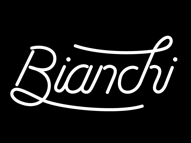 Bianchi Custom Lettering bianchi bicycles lettering typography type