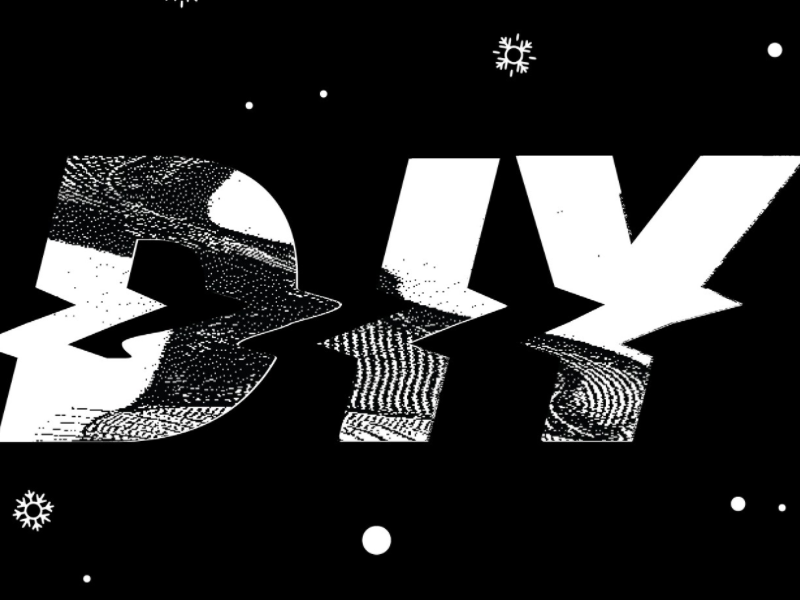 DIY glitch diy lettering typography type