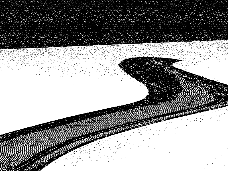 Wave Dither dither black and white