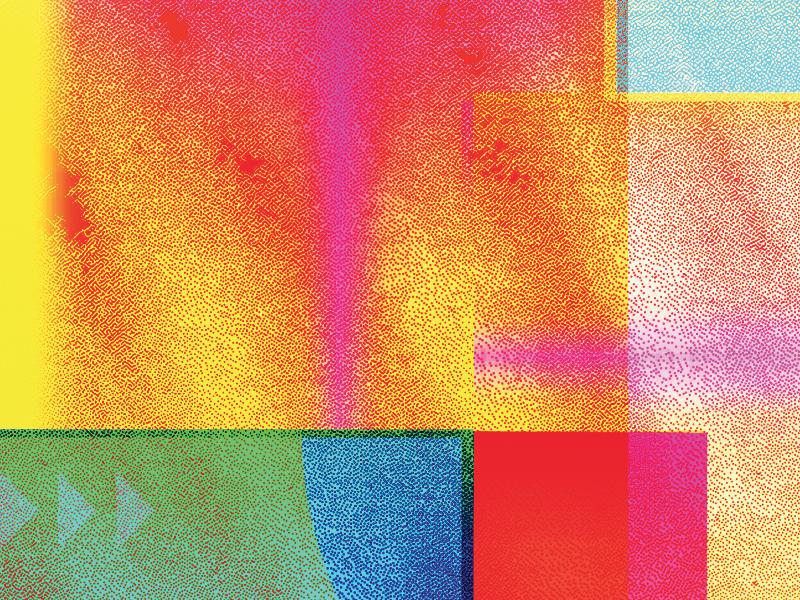 Faux Riso glitch colorful