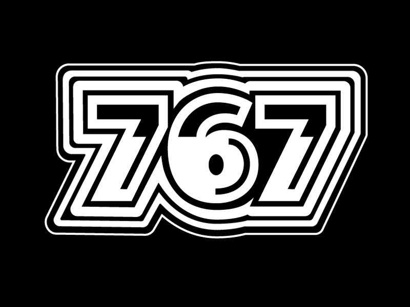 767 lettering typography black and white type