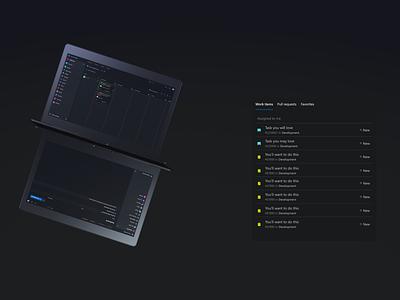 Dark Theme of Azure DevOps - Azure NightDevs ux design uxdesign uidesign ui design uiux dark app dark theme dark mode dark ui concept design concept ux ui