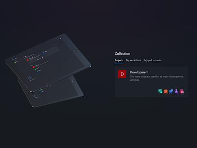 Dark Theme of Azure DevOps - Azure NightDevs azure microsoft ux design uxdesign ui design uidesign uiux dark ui dark theme dark mode design ux ui
